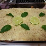 Lime Cream Cheese Crumble Cake