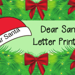 Dear Santa Letter Printable and Where to Send Letters