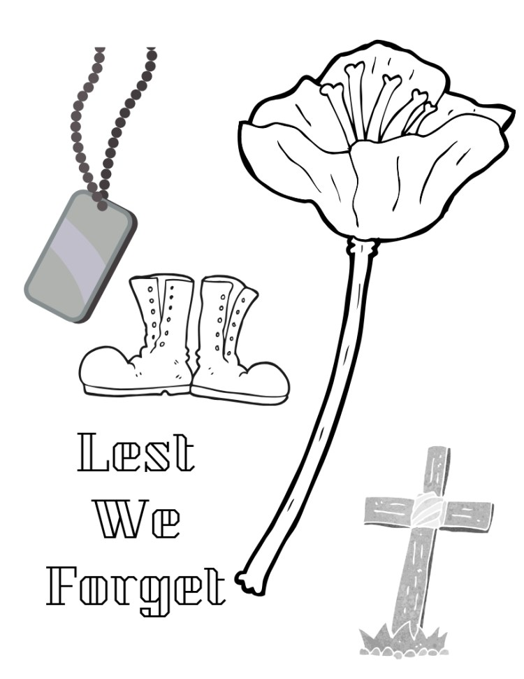 Remembrance Day printable
