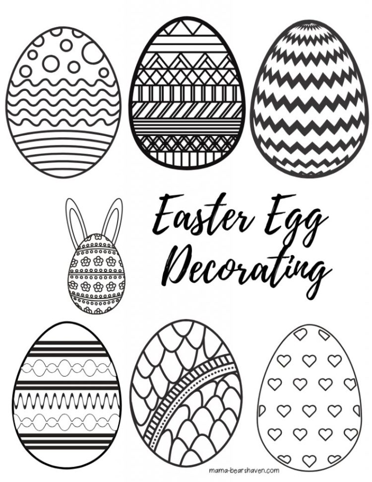 Easter Basket and Egg Colouring