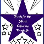 Reach for The Stars Colouring Printable – Out of This World