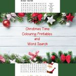 Christmas Time Colouring Printables