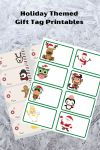 holiday themed gift tag printables