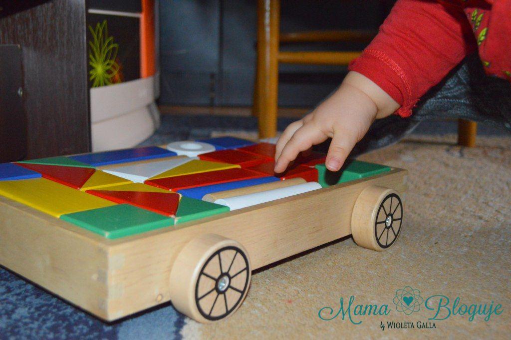 klocki wózek drewniane ikea