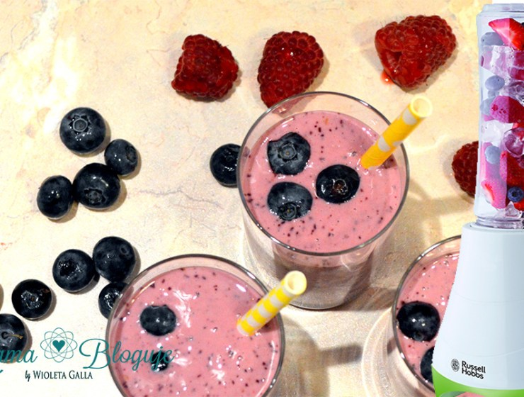 smoothie blender russell - ORZEŹWIAJĄCE SMOOTHIE - RUSSELL HOBBS BLENDER MIX&GO
