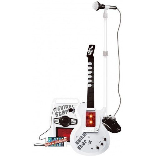 Instrumenty muzyczne dla dzieci Pwtoys gitara elektryczna mikrofon i wzmacniacz IW327
