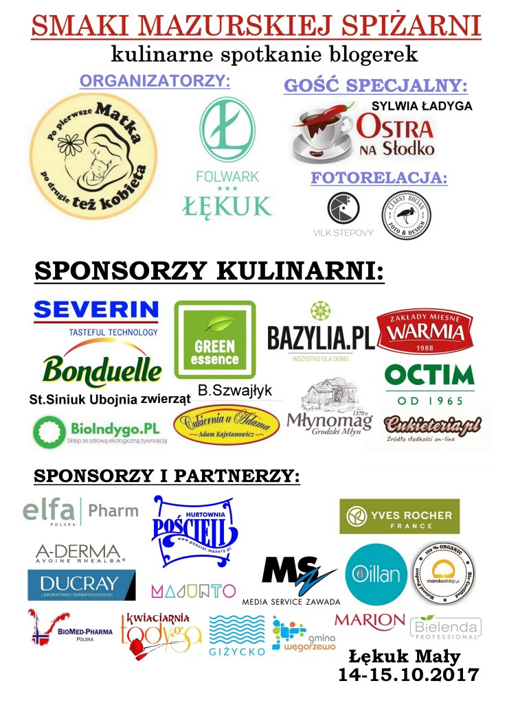 sponsorzy spotkania Smaki Mazurskiej Spiżarni.