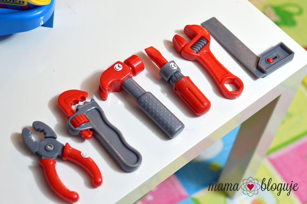 Zestaw Mały Mechanik narzędzia prezent dla chłopca wader