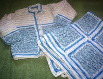 Jacket and blanket set for baby boy