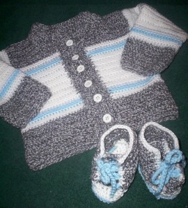 Jacket and matching booties