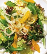 Salad of Greens, Fennel and Tangerines