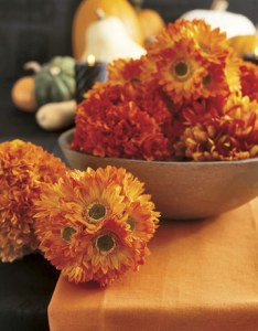 Fall Flowers Centerpiece Bowl