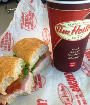One of the best things hospital do is to have Tim Horton's on the premises. It is run by volunteers and profits support hospital activities. Nice!