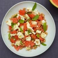 Wassermelonensalat mit Feta und Nuss
