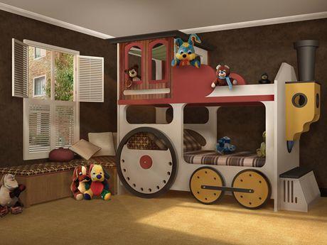 locomotive bunk bed & 8 Creative Bunk Bed Ideas - Mama Bees Freebies