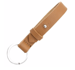 MamaBella AS0004 Cuoio chain sleutelhanger cognac brown gemaakt van florentijns leder