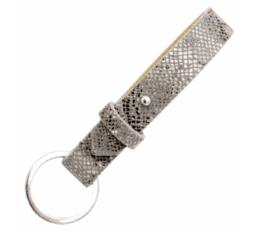MamaBella AS0010 Cuoio chain sleutelhanger snake grey gemaakt van florentijns leder