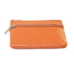 MamaBella AT0005 Kleine oranje geldbeugel of portemonee met sleutelhanger. Handig om sleutels aan te hangen en kaarten of geld in te bewaren