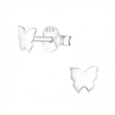 MamaBella OK0004 Butterfly oorbel is een kinder oorbel, gemaakt van sterling silver of 925 zilver. Het is een oorbel stekertje met een vlinder