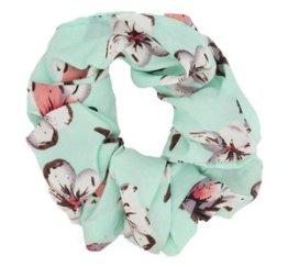 MamaBella AH0032 Pastelgroene Bloemen Scrunchie
