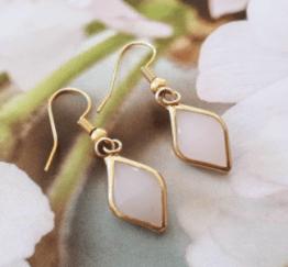 MamaBella OD0021 Pink Gold Diamond Oorbellen