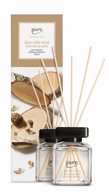 Essentials by Ipuro Geurstokjes cedar wood 200 ml room fragrances geurdiffuser aromadiffuser huisparfum EAN4051281983885 MamaBella Juwelen en accessoires