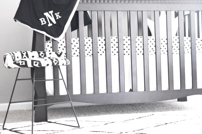 Monochrome Baby Girl Nursery