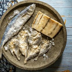 Salthed fish Sambal