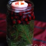 cranberry mason jar floating candle