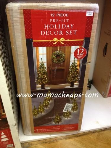 Pre-Lit Christmas Tree Set