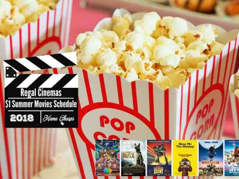 Regal Cinemas $1 Summer Movies Schedule 2018 lineup