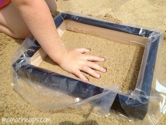 diy beach handprint footprint craft frame k