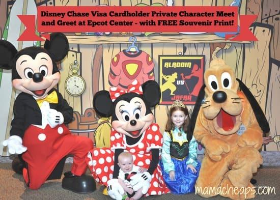 disney world disney chase visa credit card character meet and greet epcot f - title