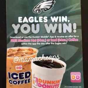 dunkin donuts philadelphia eagles free coffee