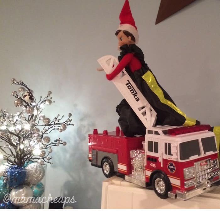 Elf Drives Firetruck