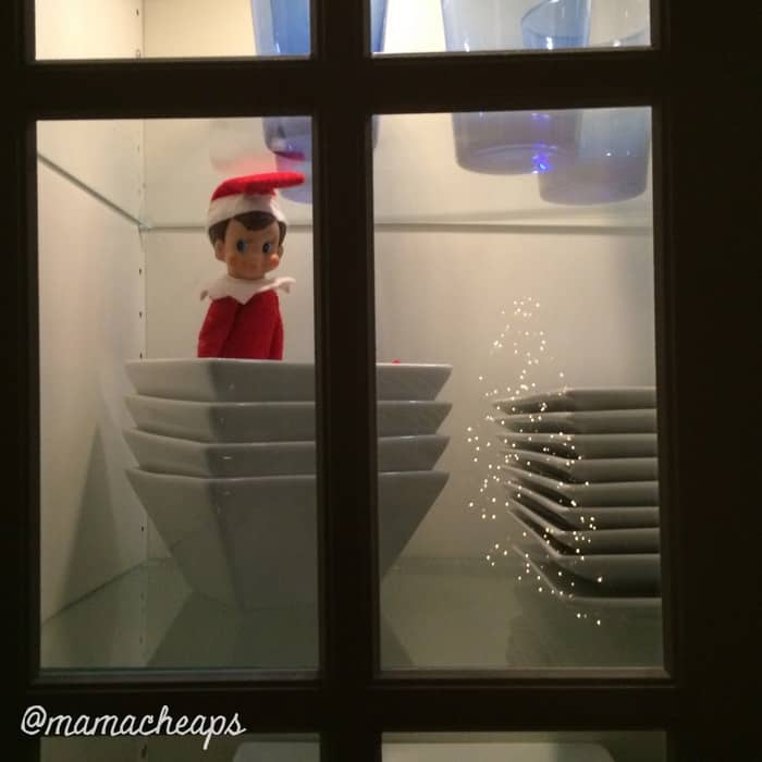 Elf Hides in Dishes