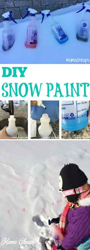 DIY Snow Paint 2 Ingredients