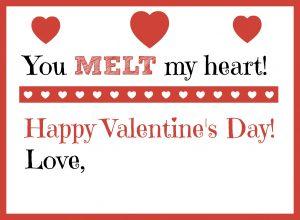 you melt my heart valentine