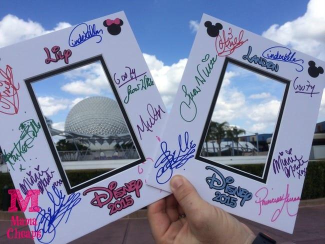disney world autograph mattes epcot