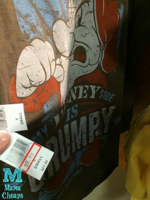 grumpy disney side shirt outlet store