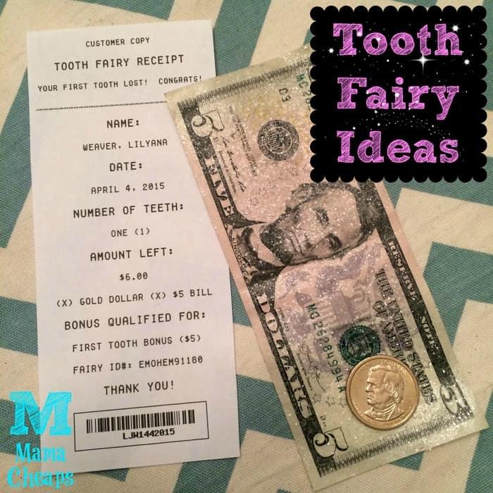 tooth fairy receipt glitter money title