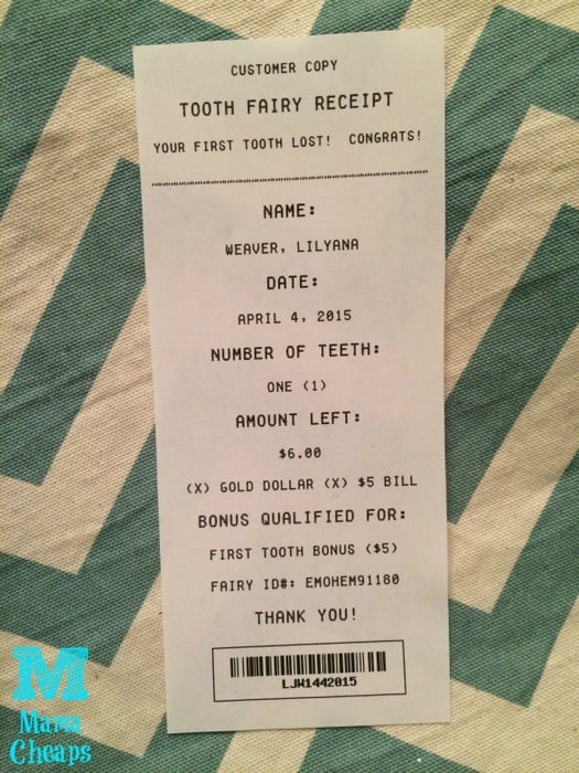 Free Printable Tooth Fairy Receipts Several To Choose From Mama