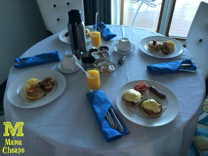 disney dream room service breakfast