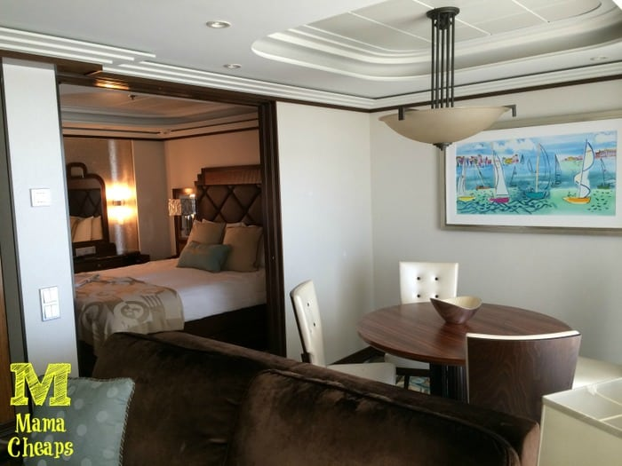 disney dream suite dining room bedroom