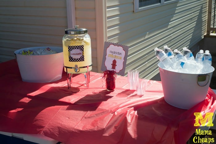birthday party drink table