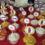 fire truck birthday cupcake desserts