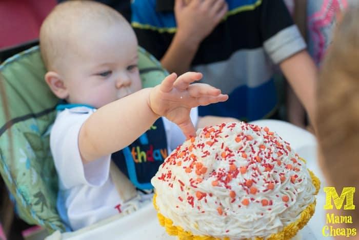 landon first birthday cupcake smash cake