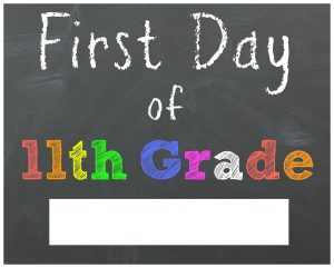 First Day of 11th Grade Chalkboard Printable Sign