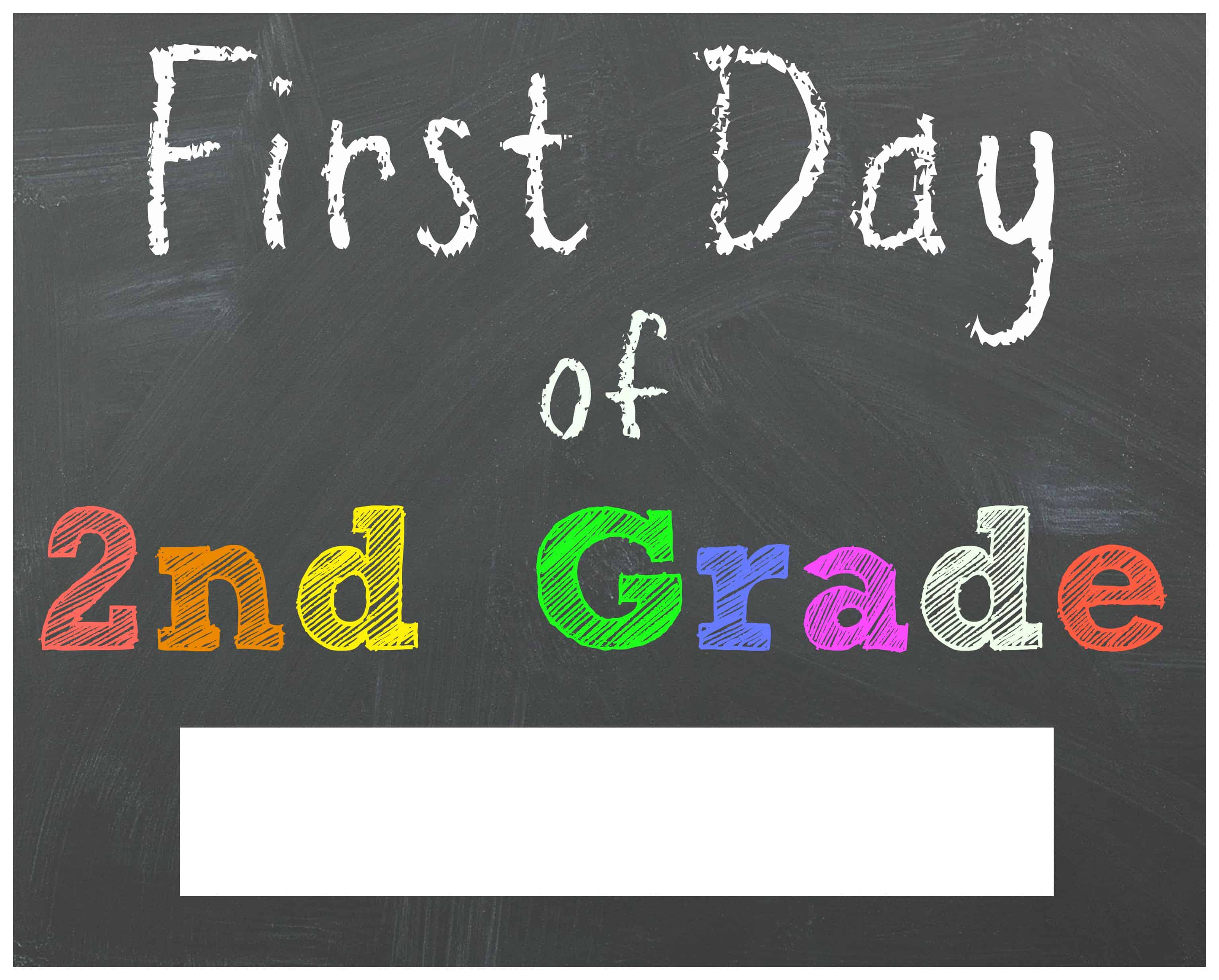 Free Back To School Printable Chalkboard Signs For First Day Of School