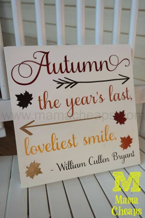 diy autumn fall sign